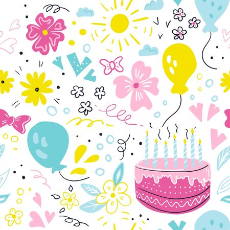 Happy Birthday typographic vector design for greeting cards. Ilustracja
