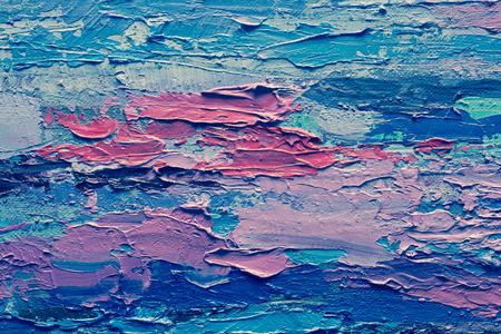 pintura abstracta: Mano de pintura al óleo dibujado