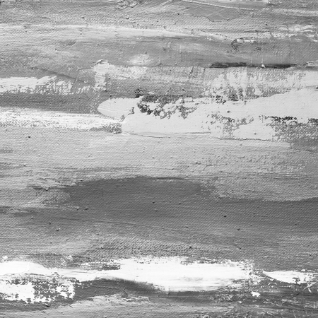 Black and white hand drawn oil texture. Brushstrokes on canvas