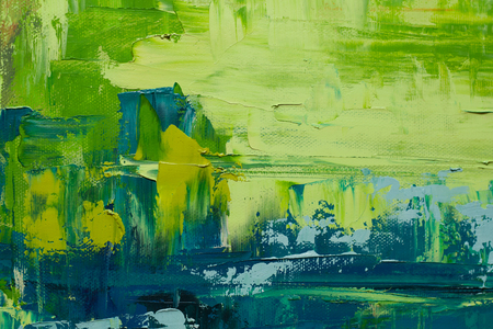 green texture: Hand drawn oil painting