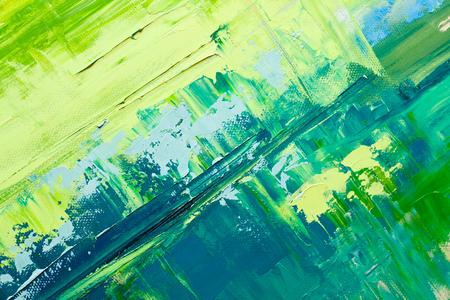 abstrakt: Handritad oljemålning Stockfoto