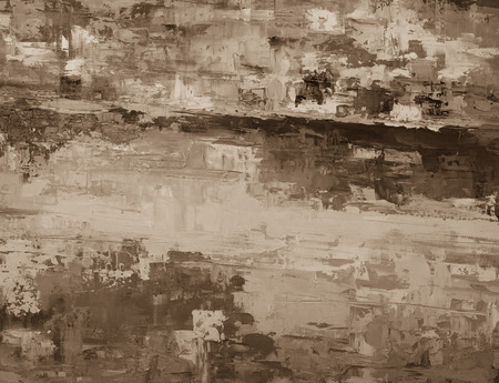 abstract paint: Black and white hand drawn oil texture. Brushstrokes on canvas