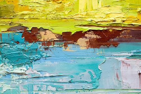 arte moderno: Mano de pintura al �leo dibujado