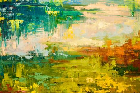 Mano de pintura al óleo dibujado Foto de archivo