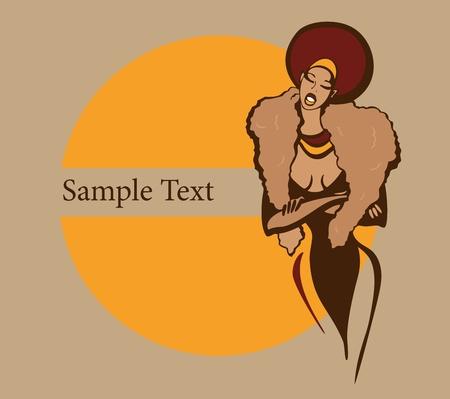 yellow hair: Illustrazione vettoriale con testo di esempio