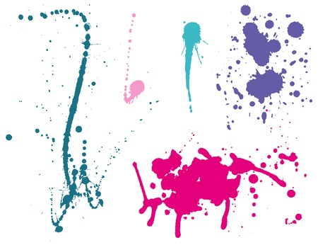 Ink splashes Color Stock Vector - 11657967