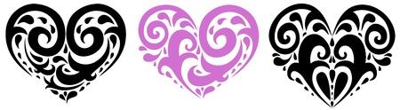 Heart. Set of design elements.  Vector illustration Stock Vector - 11657972