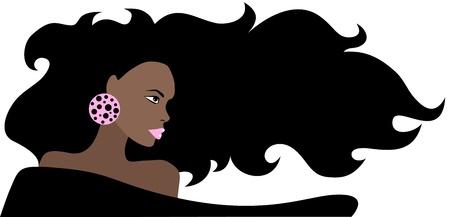 Beautiful African Woman Stock Vector - 11657978