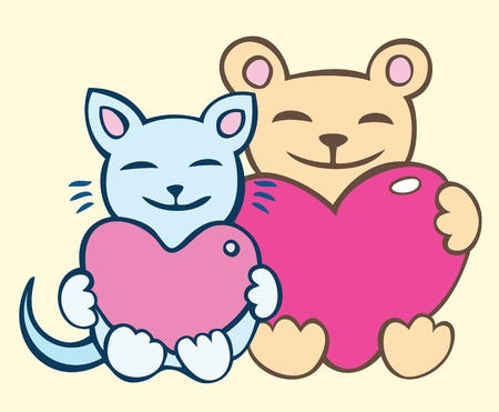 Lovers cats Stock Vector - 12082077