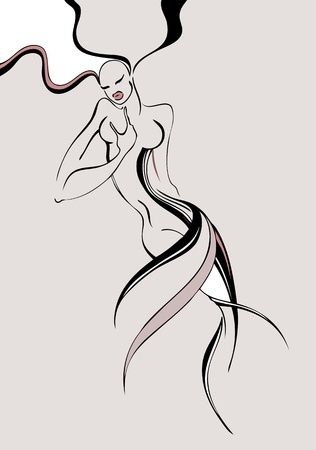 fashion beautiful woman Vector