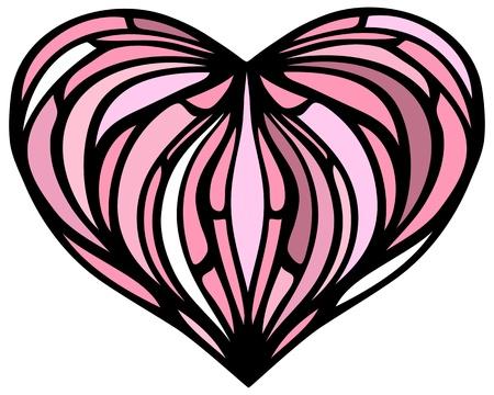 Heart illustration. Vector