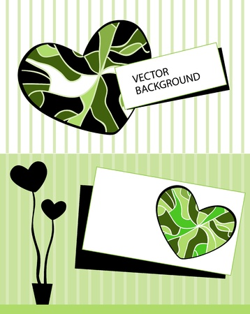 Card with stylized heart tree and text Stock Vector - 12284346