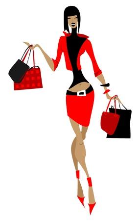 skinny girl: Shopping girl