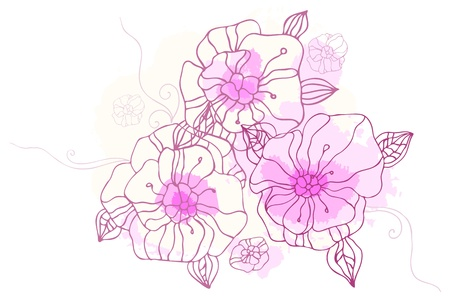 drow: Hand drawing floral background