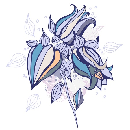 Beautiful flower  Hand drawn vector illustration Vector