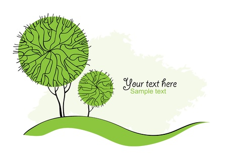 Stylized green trees for design  Vector illustration Vector