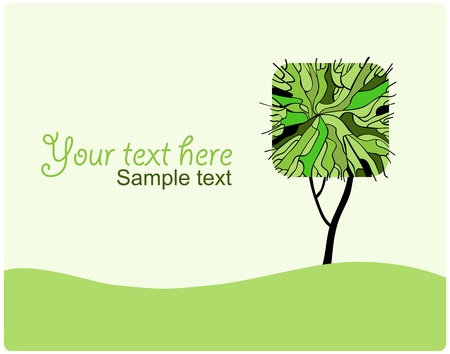 grass roots: Stylized tree for your design  Vector illustration