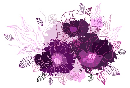 drow: Hand drawing floral background  Vector illustration isolated