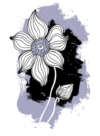 Beautiful flower  Hand drawn vector illustration isolated Stock Vector - 13454404