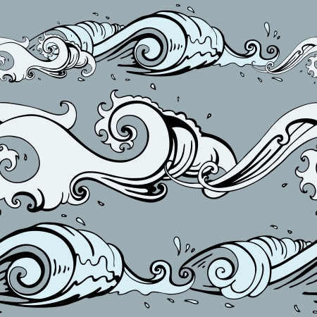 Grange Sea background  Hand drawn vector illustration Vector