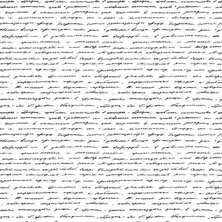 pluma de escribir antigua: De escritura a mano sin fisuras de fondo Negro y blanco Vectores