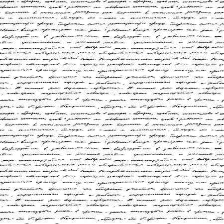 Handwriting  Seamless background  Black and white  Illustration