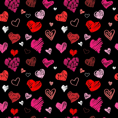 Abstract background, love heart seamless Vector
