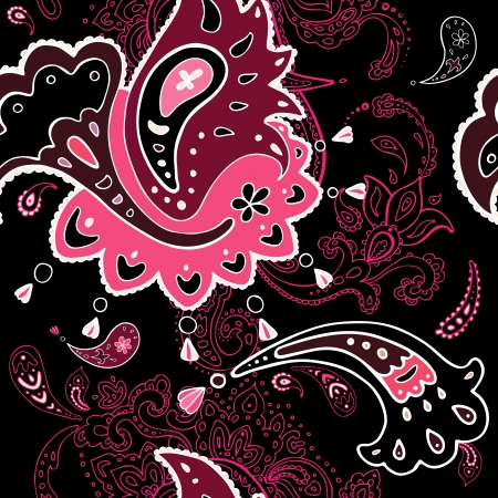 Seamless background  Paisley ornament  Textile  Vector