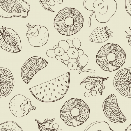 Seamless background with fruits  Vector illustration pattern