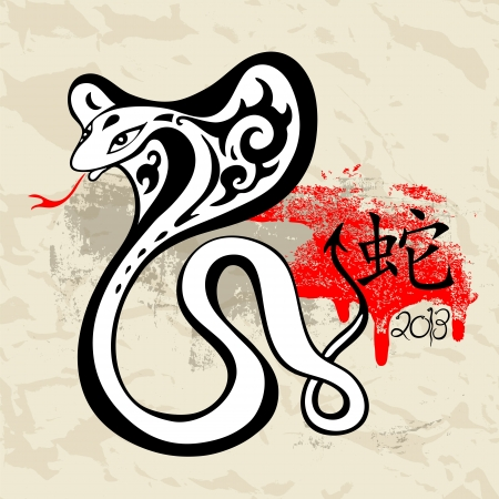 2013 Year snake symbol  Grange  illustration Vector