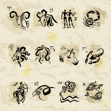 zodiacal symbol: Horoscope Zodiac Star signs  Illustrations of twelve