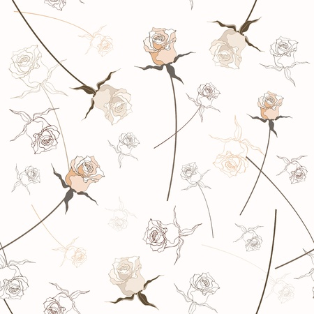 Seamless background   Beautiful  rose  Textile vector pattern Stock Vector - 17502094