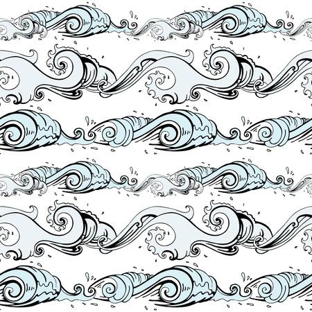 Grange Sea background  Hand drawn vector illustration Illustration