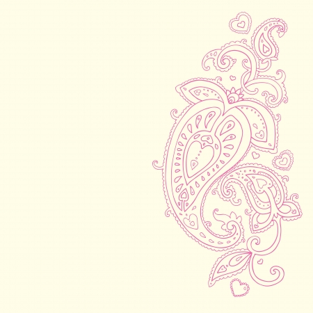 mhendi: Paisley background  Hand Drawn ornament   Vector illustration