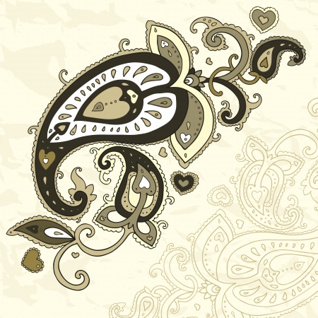 Paisley background  Hand Drawn ornament   Vector illustration Stock Vector - 16823083