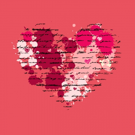 Heart design elements  Love  Handwriting vector background  Stock Vector - 17378707