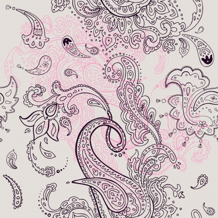 india pattern: Seamless background  Paisley ornament  Textile  pattern Illustration
