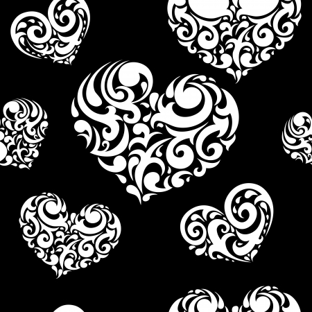 Abstract background, love heart seamless vector pattern Stock Vector - 17417977