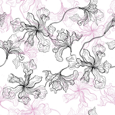 Hand drawn seamless floral pattern background  Stock Vector - 17977502