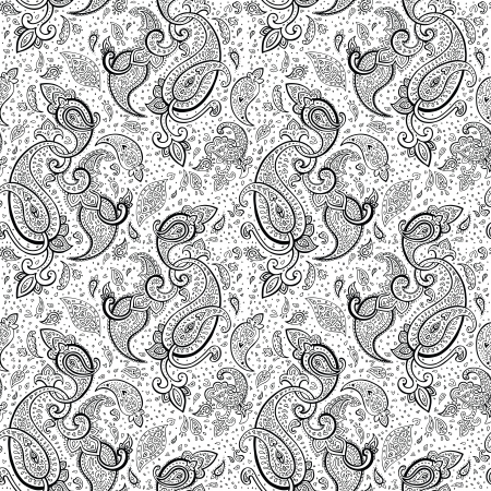 Seamless Paisley background  Hand Drawn  pattern  Stock Vector - 18389751