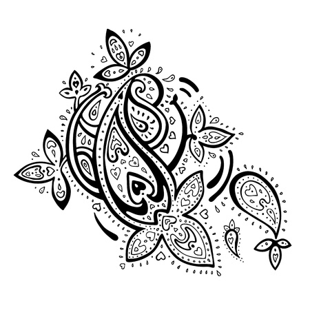 Paisley  Ethnic ornament   Vector illustration isolated  Vector
