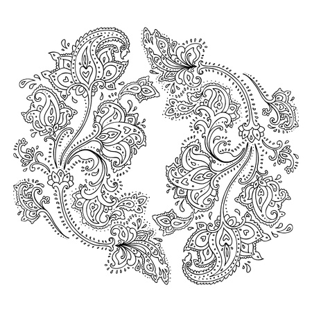passionate: Paisley  Ethnic ornament   Vector illustration isolated
