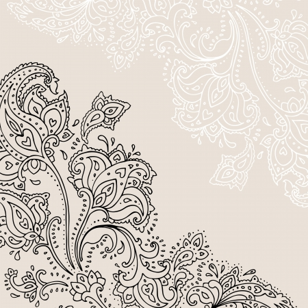 Paisley background  Hand Drawn ornament   Vector illustration Stock Vector - 18516063