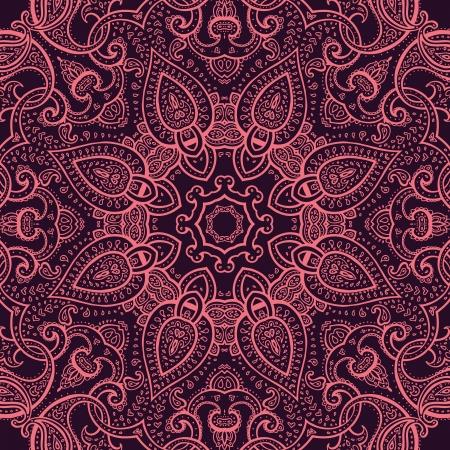 Mandala india Adorno Ornamento Círculo, encaje patrón de la Ronda Foto de archivo - 20210196