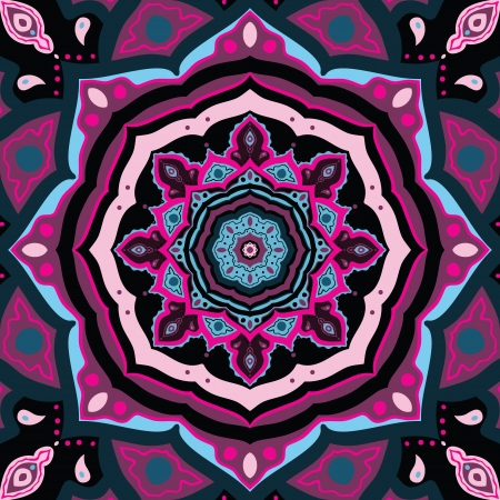 Mandala  Colorful vector background  Indian decorative pattern   Vector