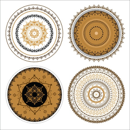 mendie: Mandala set  Vector Indian decorative pattern  Illustration