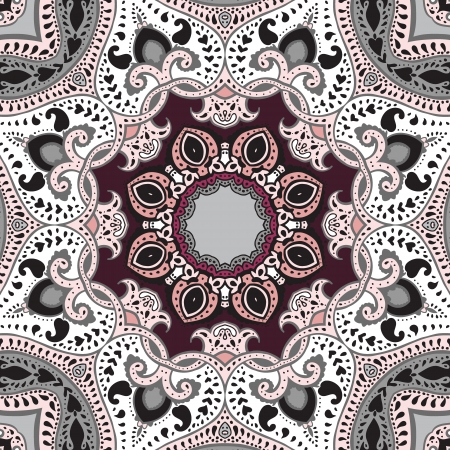 mendie: Mandala  Vector ethnic pattern, decorative background