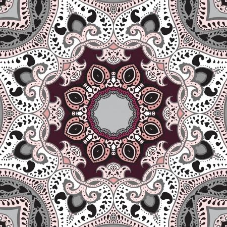 Mandala Vector patrón étnico, fondo decorativo Ilustración de vector