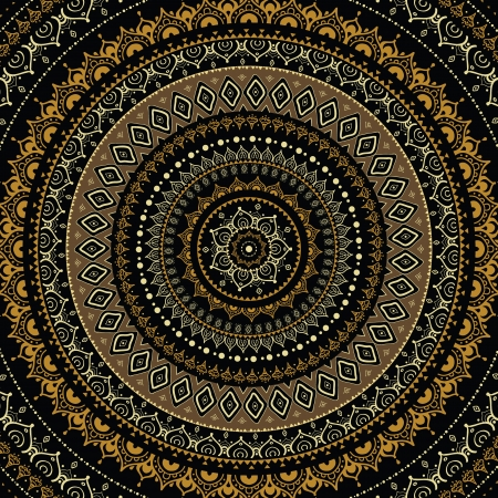 mandala: Mandala  Indian decorative pattern