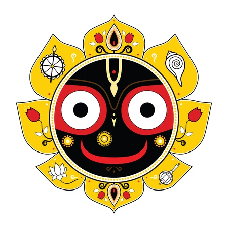 krishna: Jagannath Indian God of the Universe Illustration